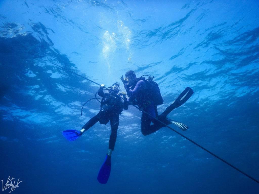 2 plongeurs en baptême