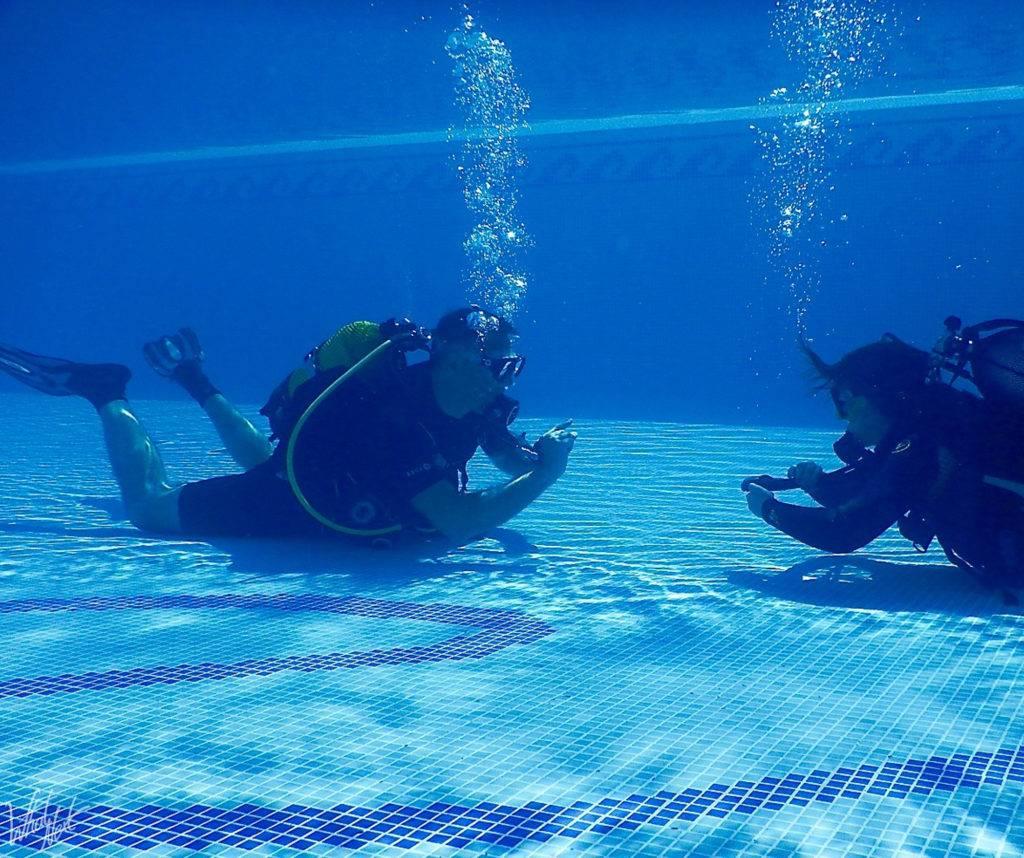 PADI piscine plongée open water