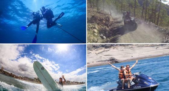montage plongée,quad,surf,jetski